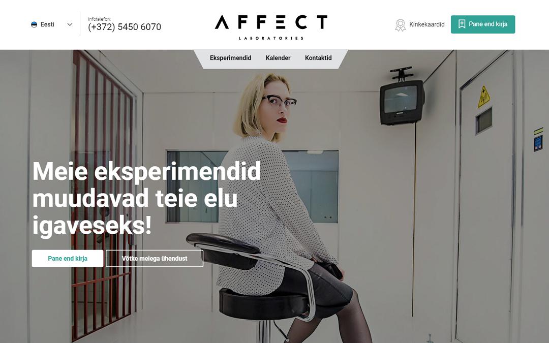 Affect.ee ekraanitõmmis